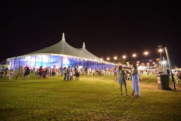 Outdoor Event with Circus Tent