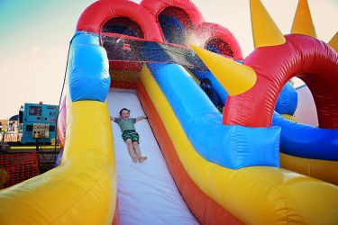 Water Slide Xmas Party